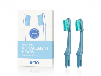 Tio replaceable brush heads in glacier blue