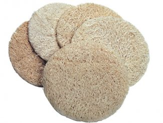 loofah exfoliating pad pack 5