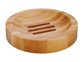 Croll & Denecke Round Bamboo Soap Dish