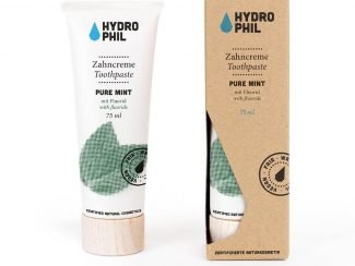 Hydrophil Pure Mint toothpaste with case