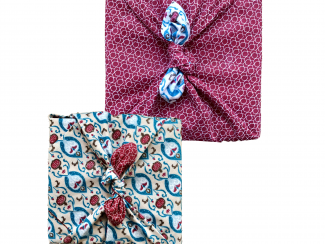 FabRap Cherry & Teal Double Sided Large