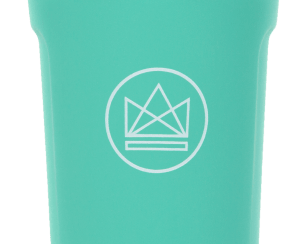 Neon kactus glass coffee cup GREEN