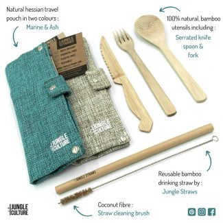 Reusable Cutlery Set Picnic-Camping Utensils Bamboo Knife Fork Spoon Travel Camping Set Jungle Straws Culture