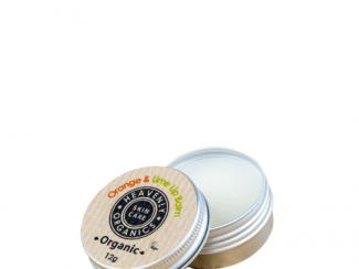 UK Distributor heavenly organics skin care orange and lime lip balm