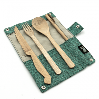 UK distributor UK distributor Jungle Culture Bamboo Cutlery Set in Marine
