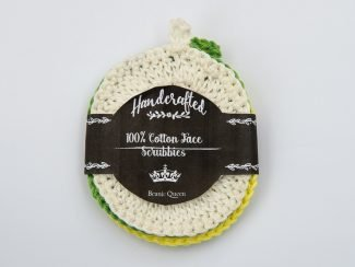 UK distributor handcrafted cotton face scrubbies