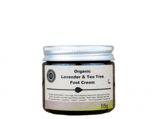Organic foot cream Lavender and tea tree foot butter Heavenly Organics UKdistributor