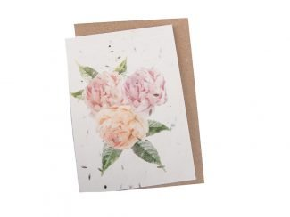 plantable peony greeting card Green Planet Paper Plantable GreetingCard sustainable greetingcards UKDistributor