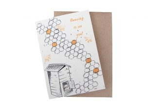 Plantable Buzzing To See You Card Sustainable Plantable greeting cards Green Planet Paper Plantable GreetingCard sustainable greetingcards UKDistributor