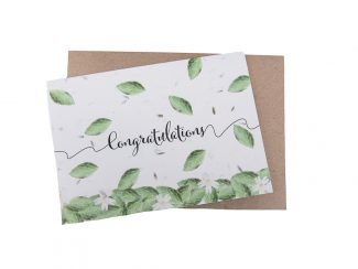 plantable congratulations card plantable wedding card sustainable wedding card Leaves Daisies