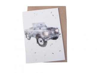 plantable greeting card landrover sustainable greeting card Green Planet Paper UK Distributor