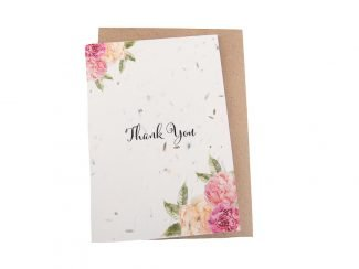 plantable thank you card Sustainable Plantable greeting cards Green Planet Paper