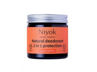 Niyok Deodorant peach UKdistributor Niyok aluminiumfree natural deodorant eco