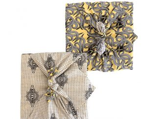 FabRap UK Distributorsustainable fabric gift wrapping Sunshine Make a Wish doublesided