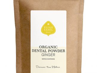 UK Distributor Eliah Sahil organic dental powder ginger wholesale trade sustainable refill bag