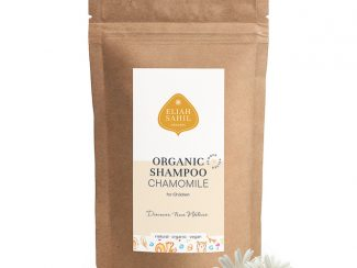 UK Distributor Eliah Sahil organic shampoo wholesale trade organic powder shampoo children chamomile refill bag
