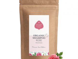 UK Distributor Eliah Sahil organic shampoo wholesale trade organic powder shampoo rose for volume refill bag