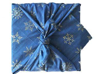 UK Distributor FabRap zero waste fabric gift wrapping midnight snowflake