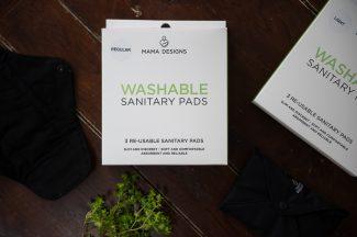 UK Distributor Mama Designs reusable sanitary pads teen menstrual pads sustainable
