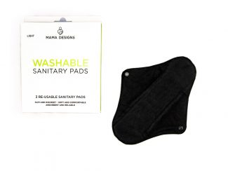 UK Distributor Mama Designs reusable sanitary pads teen menstrual pads sustainable Light