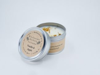UK Distributor Wholesome Herbals soy candles toxinfree sustainable plasticfree Vanilla Apple