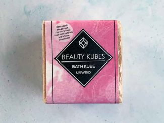 UK distributor Beauty Kubes solid cosmetic plastic free bath bombs bath cubes unwind