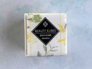 UK distributor beauty Kubes solid cosmetic plastic free bath bombs bath cubes refresh