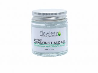 UK distributor Flawless hand sanitiser gel vegan beauty cosmetics zero waste sustainable