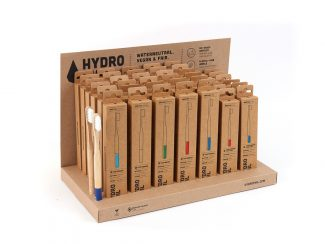UK distributor Hydrophil bamboo toothbrushes carbon neutral plant based bristles