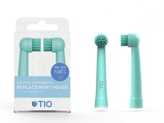 K distributor TIO plantbased toothbrush heads electrical Oral B plantbased heads lagoon pebble