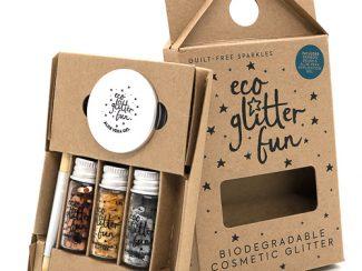 UKdistributor EcoglitterFun biodegradable plasticfree 3pcs PURE MetallicBox