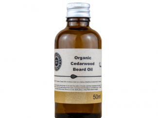 UK distributor Heavenly Organics Cedarwood Beard Oil