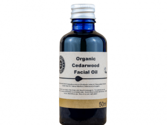 UK distributor Heavenly Organics Cedarwood Facial Oil