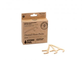 UK distributor Hydrophil dental floss sticks bamboo handle trade bulk eco sustainable floss picks