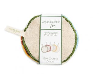 UK distributor Organic Stories sustainable eco friendly lifestyle products organic cotton facial pads tags