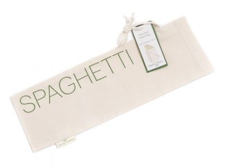 UK distributor Organic Stories sustainable eco friendly lifestyle products organic cotton reusable spaghetti bag straight