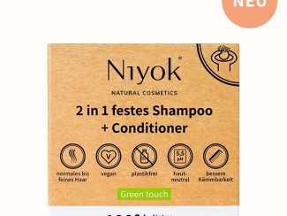 UK distributor Niyok 2-in 1solid shower bar and conditioner natural cosmetics green touch