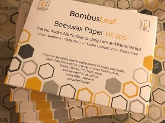 UK distributor BombusLeaf Beeswax Paper Wraps Sustainble Zero waste biodegradable vegan paper outer packaging