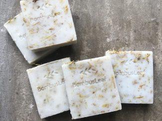 UK distributor BombusLeaf Hand and Body Soap Scrub Oat Chamomile Calendula eco
