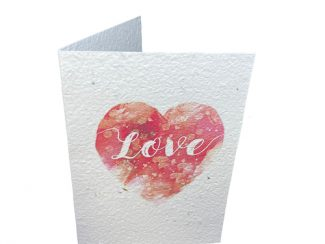 UK distributor Green Planet Paper plantable greeting cards Heart love