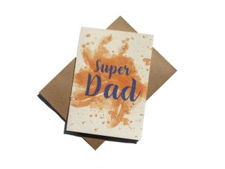 UK distributor Green Planet Paper plantable greeting cards fathers day super dad