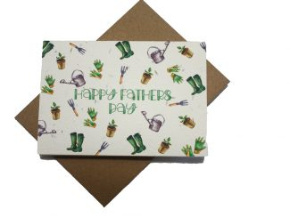 UK distributor Green Planet Paper plantable greeting cards fathers garden tools