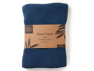 UK distributor Wild Stone Sustainable lifestyle products zero waste Hand Towels 100% Organic Cotton Ocean