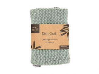 UK distributor Wild Stone Sustainable lifestyle products zero waste Dish Cloths 100% Organic Cotton green