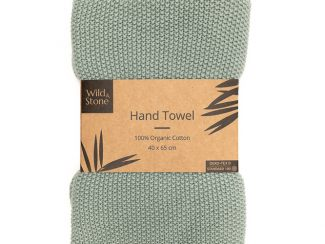 UK distributor Wild Stone Sustainable lifestyle products zero waste Hand Towels 100% Organic moss green