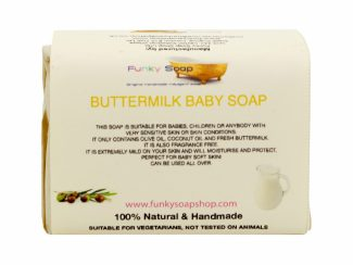 UK distributor FunkysoapShop natural baby products plasticfree toxinfree39 Buttermilk baby soap bar