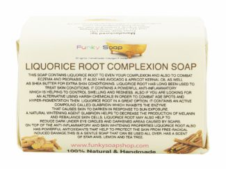 UK distributor FunkysoapShop natural beauty products plasticfree toxinfree liquorice soap