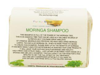UK distributor FunkysoapShop natural beauty products plasticfree toxinfree moringa shampoo