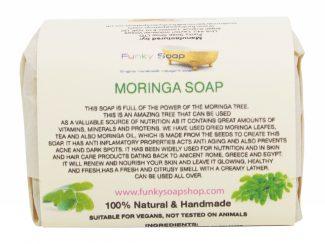 UK distributor FunkysoapShop natural beauty products plasticfree toxinfree moringa soap
