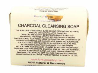 UK distributor FunkysoapShop plasticfree natural charcoal soap bar